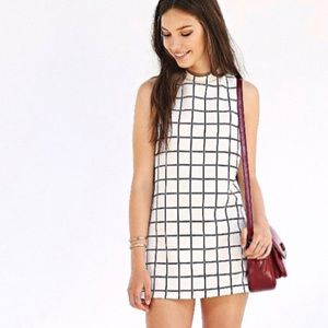 UO Cooperative Windowpane Shift Dress